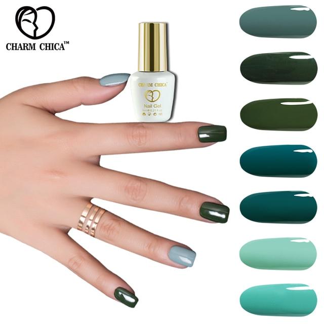 ENCANTO CHICA UV Gel Esmalte de Uñas 6 ml Serie Verde Colores ...