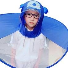 Детский прозрачный дождевик qian в виде НЛО без рук пончо от