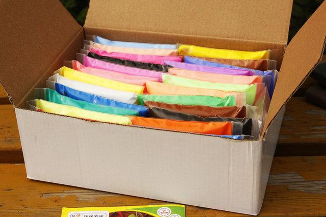 24 Colores de Plastilina Conjunto de Plastilina Súper Suave Luz de Color modelado De Arcilla de Espuma de Aire Seco Plastilina Plastilina Arcilla Saltando DIY
