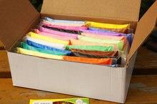 24 Цветов Набор Пластилина, Пластилин Супер Мягкий Свет Цвета моделирование Пены Воздух Сухой Глины Играть Doh Пластилин Прыжки Глины DIY