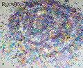 30g x Mate Neon Colores Mezclados Brillo Resistente A los Disolventes Hexagon lentejuelas Formas para esmalte de Uñas de Gel de Uñas de Acrílico Arte