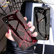 KISSCASE Original Design Glass Marble Phone Case For iPhone XR XS X Full Fitted 8 7 Plus 6S 6 Bag Funda