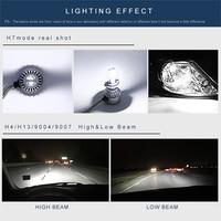 Car Headlight H1/H3/H7/H8/H9/H11/9005/9006 C6 Highpower Headlamp Kit 12V 72W 3800LM IP68 COB Auto LED Lamp Bulb 2