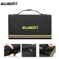 Suaoki 60 Вт Панели солнечные 5 В USB и 18 В DC Выход Портативный складной Дополнительный внешний аккумулятор солнечной Зарядное устройство для сма