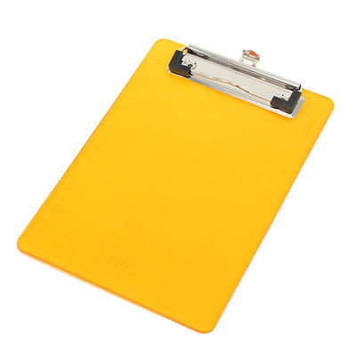 Office File Holding Orange Plastic Clip Board for A6 Paper free shipping top quality new style f hole half hollow body p90 pick up gold top jazz electric guitar in stock