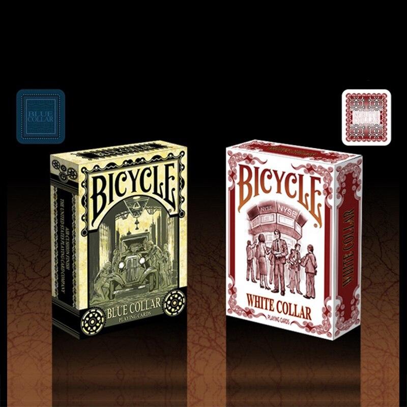 1 Pz Bianco O Blu Collare Della Bicicletta Set Deck Carte Da Gioco Formato Poker Uspcc Limitata New Sealed Magic Deck Puntelli Magia Trucchi Eppure Non Volgare