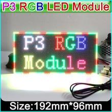 P3 Módulo De Pantalla LED a todo Color para interiores, 192mm x 96mm, 64*32 pixeles, Panel LED SMD 3 en 1 RGB P3, módulo de vídeo LED P4 P5 P6 P10