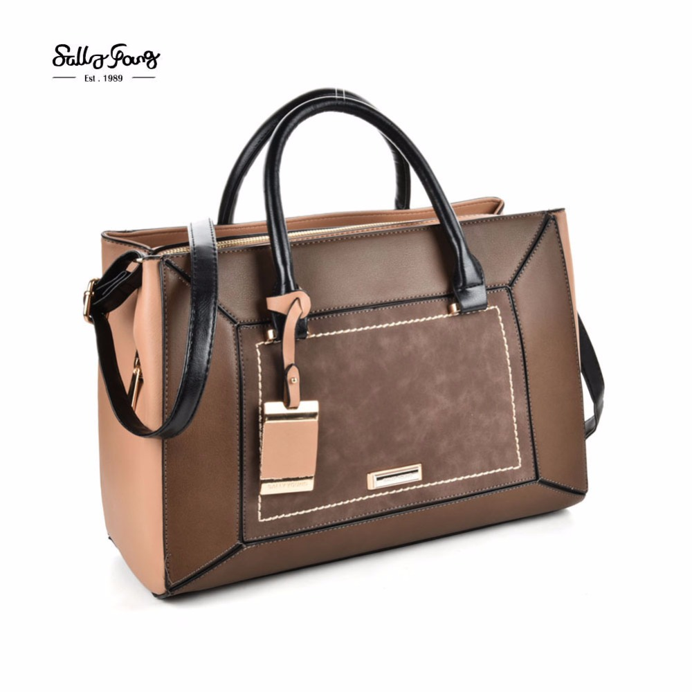 ZIWI 2017 New Fashion High quality leather Women handbag splicing color soft two usages shoulder bag for ladies SY2130