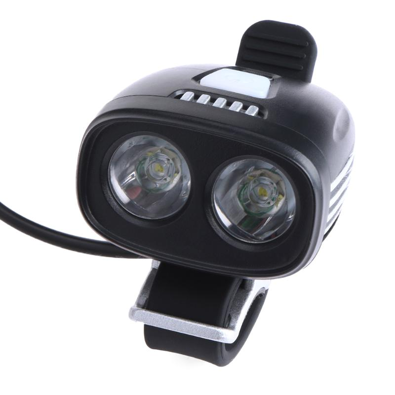 Waterproof USB Rechargeable Cycling Bicycle Light Bike Accessories Dual Head LED Bike Lights Front Torch Headlamp + Bike Mount wheel up bike head light cycling bicycle led light waterproof bell head wheel multifunction mtb lights lamp headlight m3014