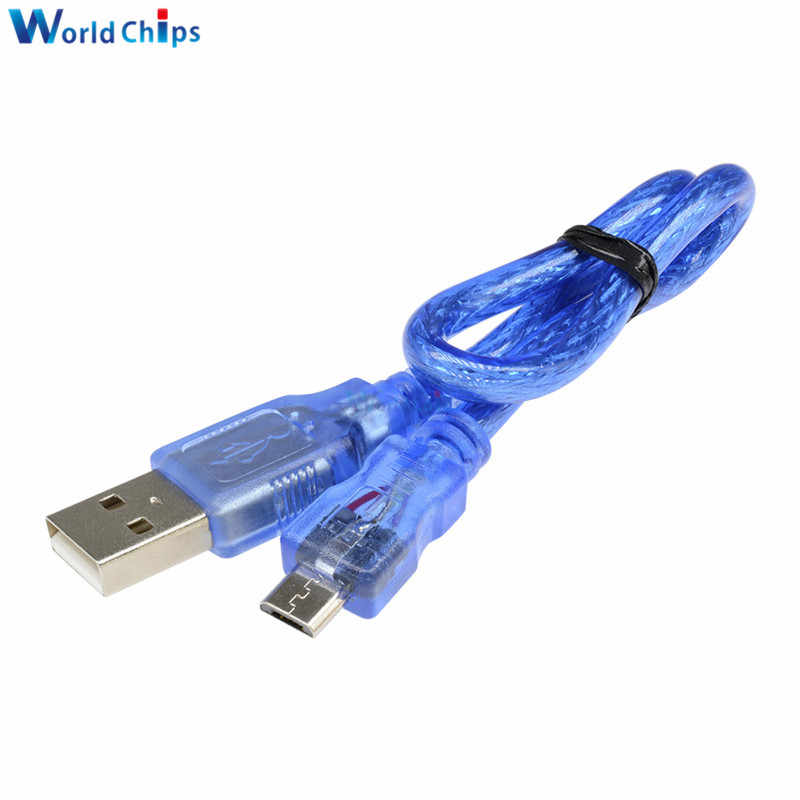 30cm USB 2.0 A Male to Micro USB 5 pin Male Data Charge Cable Cord