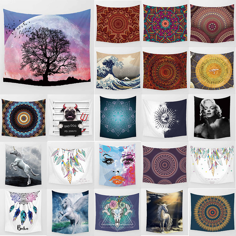 Unicorn beauty trees tapestry hd wall hanging tapestry home decoration large rectangle bedroom wall tapestry in Tapestry from Home Garden