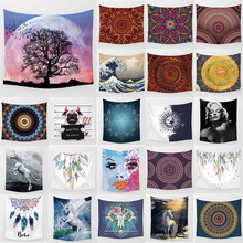 Unicorn beauty trees tapestry hd wall hanging tapestry home decoration large rectangle bedroom wall tapestry