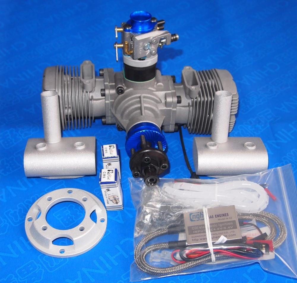 Ngh 2 Stroke 2 Cylinder Gt70 70cc 2 Stroke Gasoline Engines Petrol Engines Rc Aircraft Rc