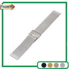 Aço Inoxidável Faixa de Relógio Milanese para Casio BEM 302 307 501 506 517 EF MTP 16 18 20 22 24mm Strap Correia de Pulso Loop pulseira