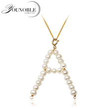 Real Natural Freshwater Pearl Pendant,sute Pearl Numbers Pendant With 925 Sterling Silver Necklace Chain недорого
