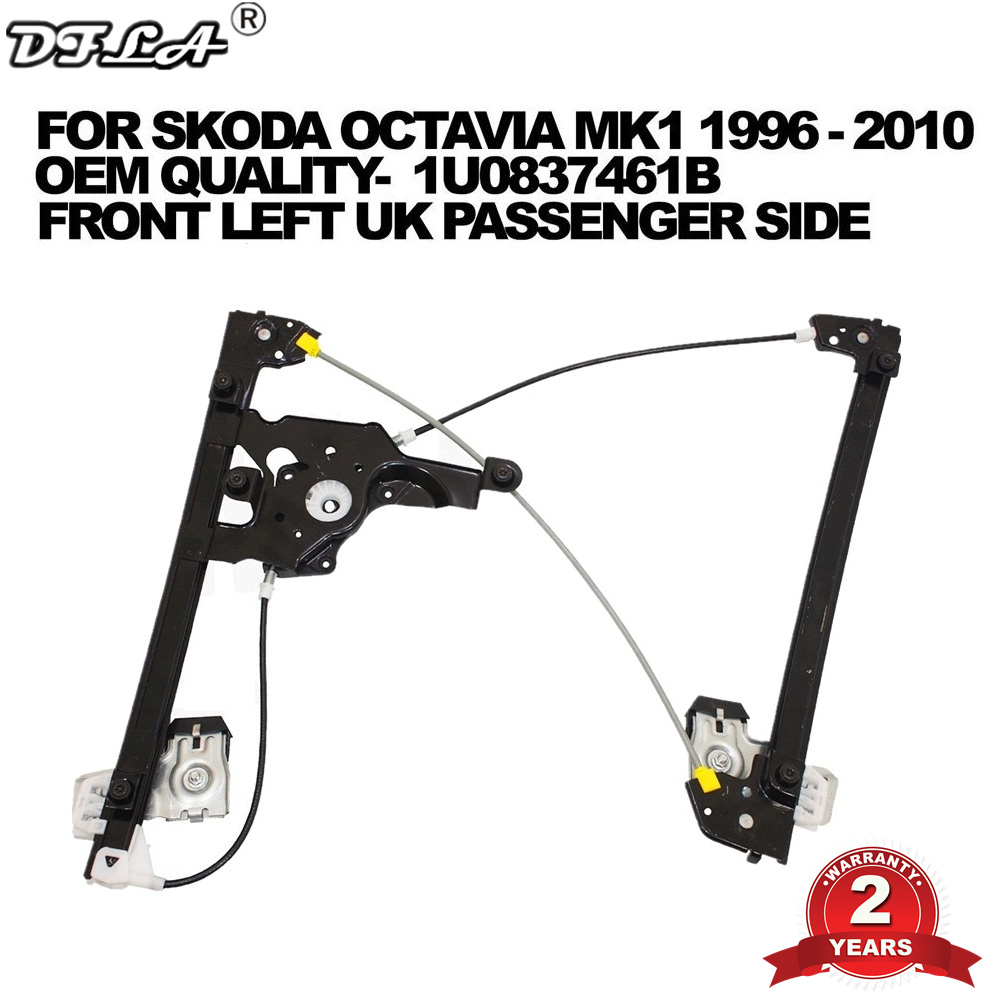 For All Skoda Octavia A4 MK1 1996 1997 1998 1999 2000 2001 2002 2003 2004- 2010 Electric Window Regulator Front Left Side Door