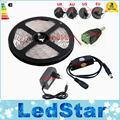 5M 150/300 leds 5050 SMD white / warm white / red / green / blue / led strip +PIR motion body sensor detector switch +2A power