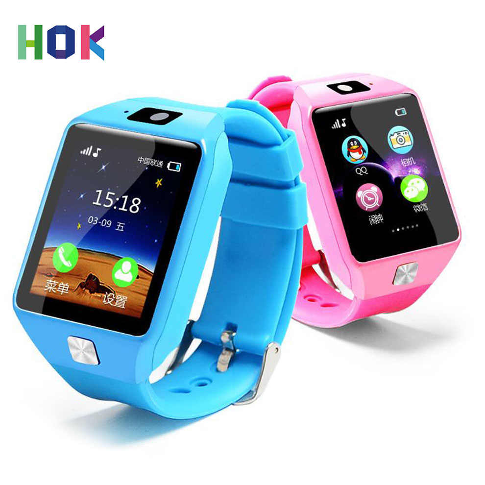 HOK Smart Watch DZ09 Support SIM TF Cards For Android IOS Phone Children Camera Women Bluetooth Watch With Retail Box Russia