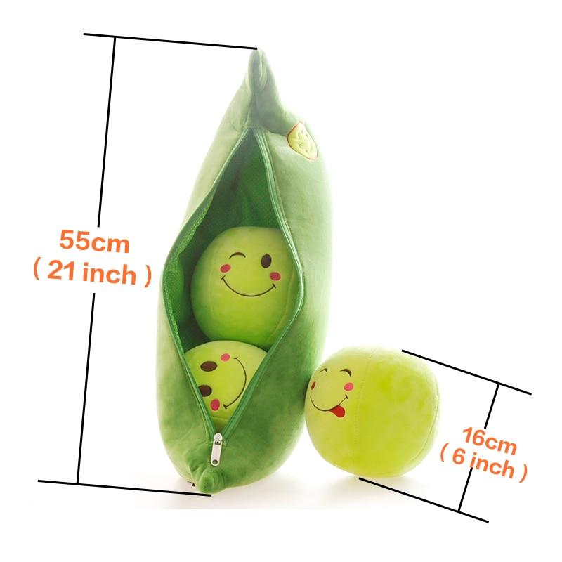დიდი ბარდა Plush ბალიში Super Cute Peas - პლუშები სათამაშოები - ფოტო 5