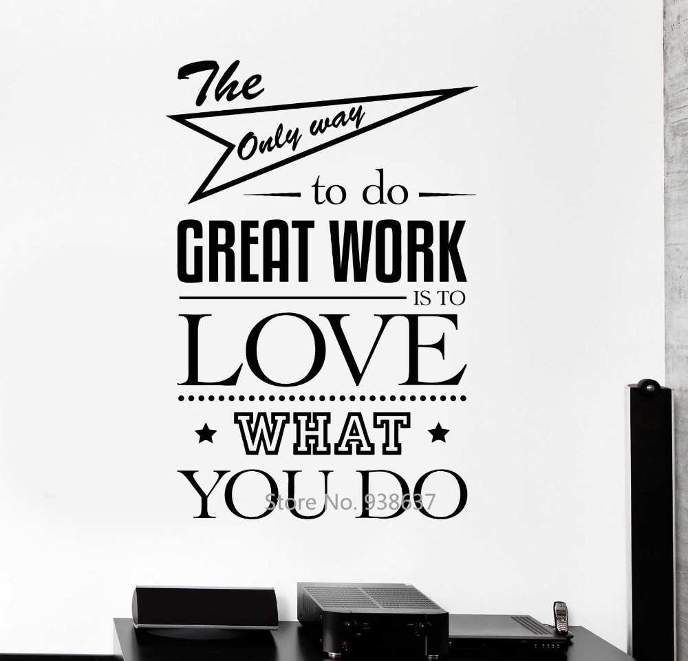 diy inspirational quotes wall decals office wall decor art motivation wall stickers murals. Black Bedroom Furniture Sets. Home Design Ideas
