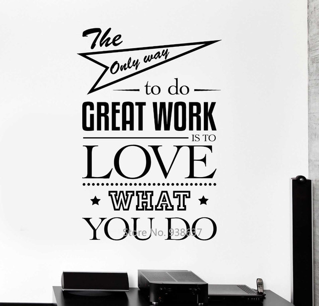 DIY Inspirational Quotes Wall Decals Office Wall Decor Art ...