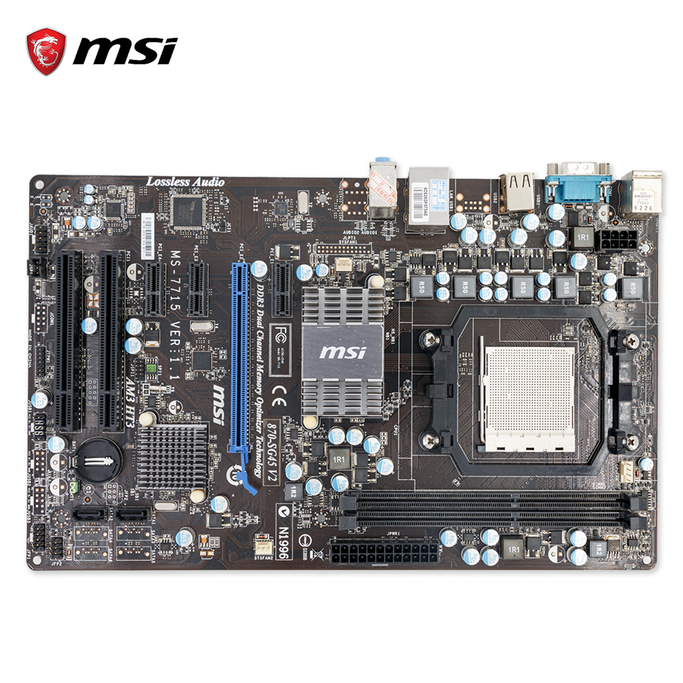 все цены на  MSI 870-SG45 V2 Original Used Desktop Motherboard 770 Socket AM3 DDR3 8G SATA2 USB2.0 ATX  онлайн