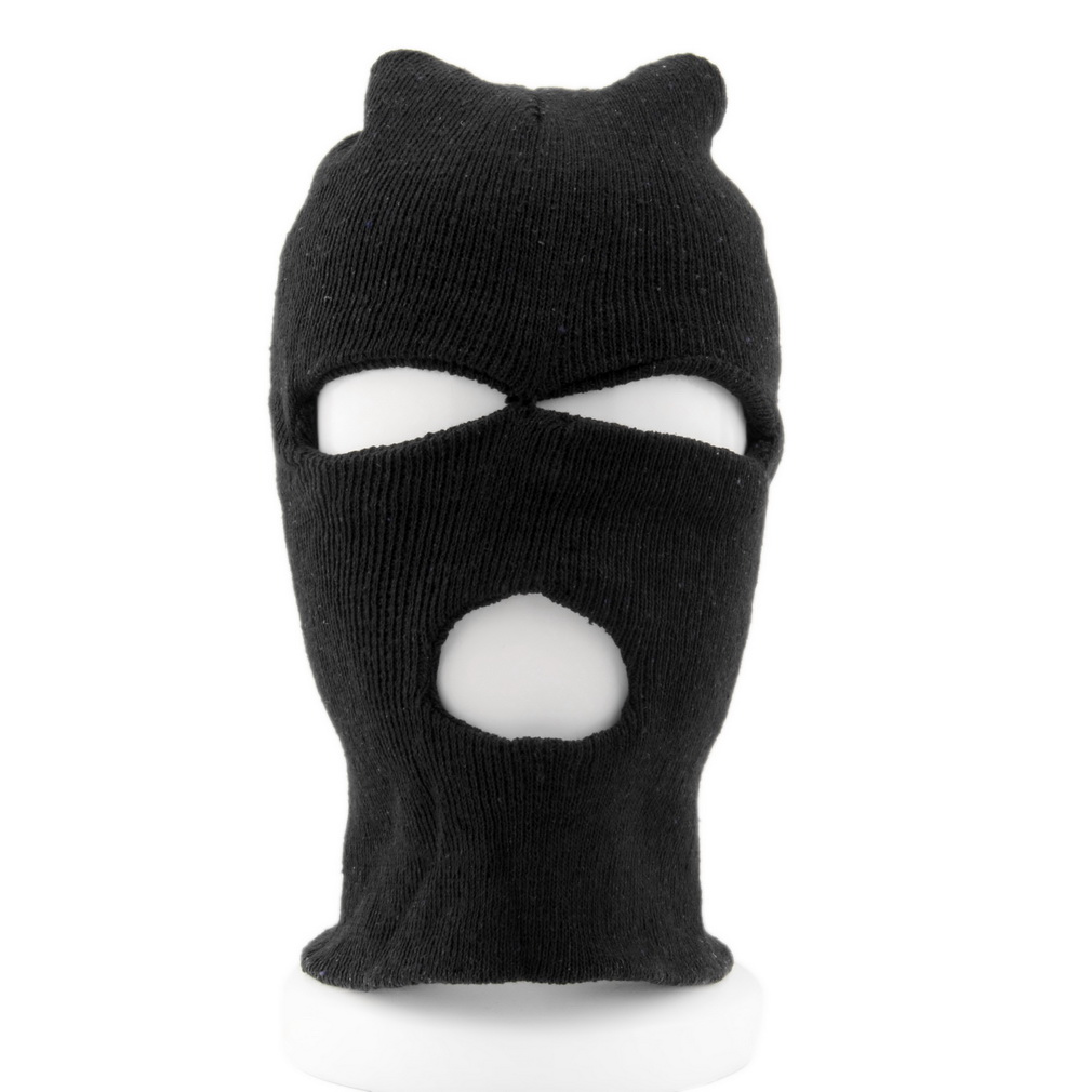 1d2cc5ecf US $0.81 42% OFF Full Face Cover Ski Mask 3 Hole Balaclava Knit Hat Winter  Stretch Snow Mask Beanie Male Men Motorcycle Balaclava-in Men's Skullies &  ...