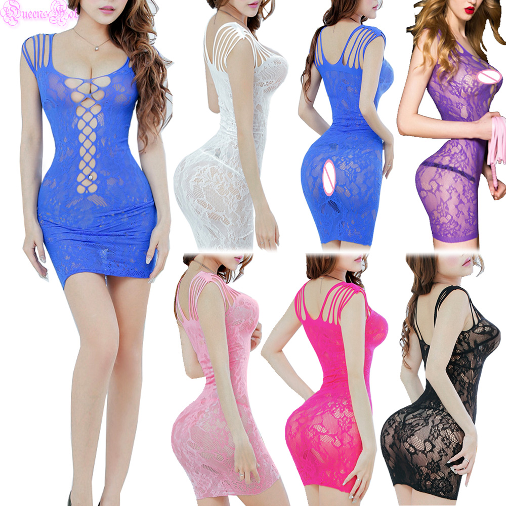 Erotic Sexy Sleeveless Floral See Through Dress Lingerie Babydoll Chemise Teddy Underwear Porno Costumes Cotillon Pole Dance