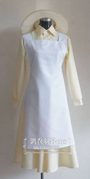 2012 The Wind Rises Naoko Satomi Dress Cosplay Costume Custom Made image