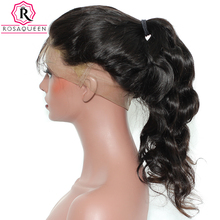 Rosa Queen 360 Lace Frontal Wigs 180 Density Brazilian Body Wave Remy Hair 100 Human Hair