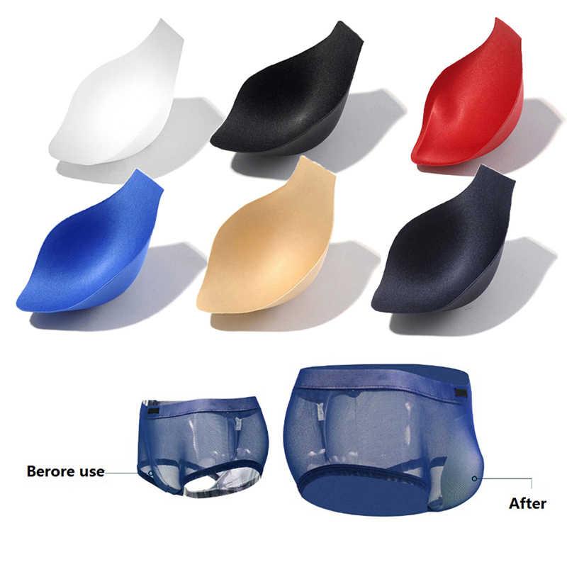 Мужские s Купальники увеличивают пенис мешок коврик сексуальное мужское нижнее белье защитный коврик внутренние боксерские колодки увеличить защитный коврик
