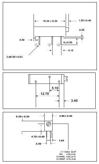3006P 20 10 5 2 1K K K K K K 100K 200K 500K 1 50 M 100R 200R 500R Trimmer Potentiometer x 100PCS