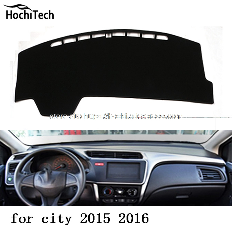 for honda city 2015 2016 dashboard mat Protective pad Shade Cushion Photophobism Pad car styling accessories прокладки клапанной крышки honda vtr1000f