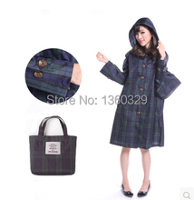 New Korean Style Womens Long Raincoats Plus size burberry women Trench with Hood Waterproof Sports Girls