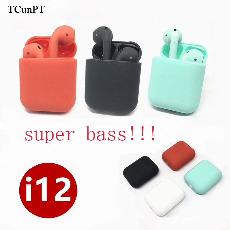 TCunPT High Quality I12 TWS 1 1 Air Pods Wireless Bluetooth 5 0 Super Bass Earphones
