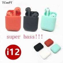 TCunPT высокое качество I12 СПЦ 1:1 Air стручки беспроводной Bluetooth 5,0 наушники с ультранизкими басами наушники Pk I7S I11 для IPhone 8 вкладыши наушников