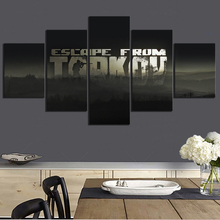 5 Piece Escape From Tarkov Game Poster Paintings Canvas Art for Living Room Wall Decor