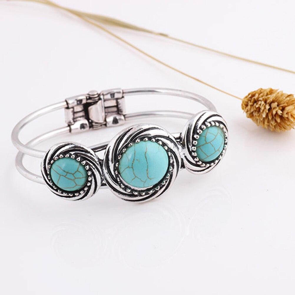Jewelry Vintage Tibetan Carved Round Rammel Bangle Bracelet Watch Band Pulsera Bracalete Accessory Gift For Women