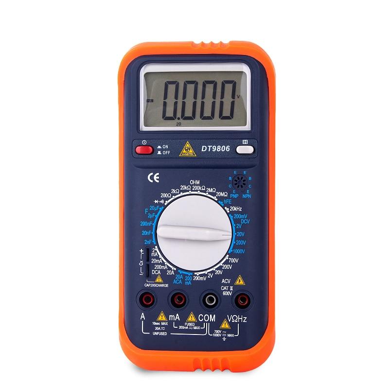 Voltmètre DC/AC ampèremètre numérique multimètre ESR testeur indicateur de tension de courant Transistor mesure 20 KHz 200 mV-1000 V