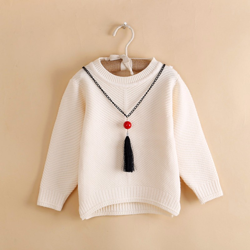Cotton Girls Sweaters Solid O Neck Top Long Sleeve Clothes Pullover Knit Outerwear Autumn Winter Kids Sweater Children Clothing (5)