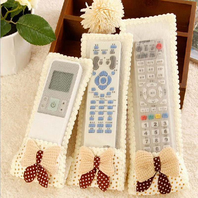3Pcs/set Cloth TV Remote Control Dust Cover Air Conditioning Remote Control Dust Storage Bag Gift household merchandises 9Z