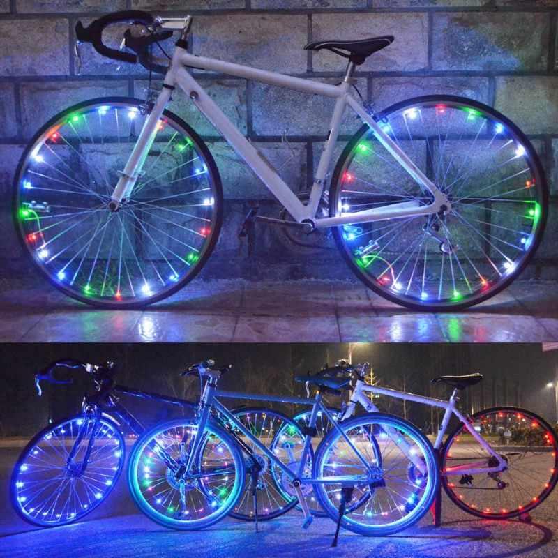 Lampes LED pour vélo 20 LED vélo VTT lumières éblouissantes cyclisme a parlé roue lampe vélo accessoires