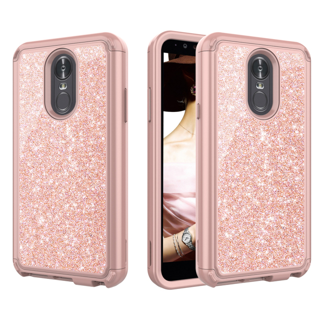 US $7 6 10% OFF|Bling Bling for LG Stylus 4 Stylo 3 Plus Case Coque LG  Stylo 4 Case 3 IN 1 Hard Case for Funda LG Stylus 3 Cover Stylo3 Stylus4-in