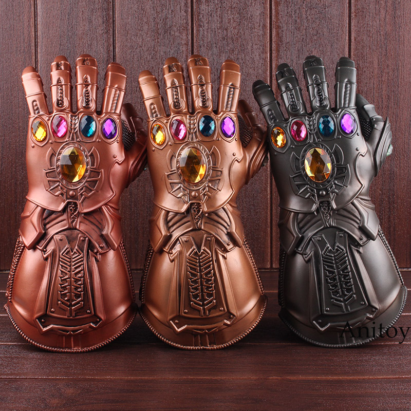 High Quality Avengers Infinity War Thanos Cosplay Avenger Thanos Gauntlet Glove 1:1 Halloween Party Props Deluxe PVC Figure Toys thanos