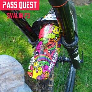 Image 3 - אופניים מתקפל פגוש DH FR AM מזלג קדמי אחורי אופני הרי כביש אופני פנדר בוץ הסרת מיני מהבהב לעבור QUEST svalin P3