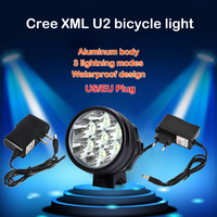 TSLEEN 7 Cree XML T6 LED Bicycle Light 8400LM Rechargeable Bike Lamp Night Torch Outdoor Cycling