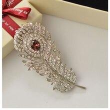 MZC Yeni moda kristal Mor Taş Yaprak Kadınlar Için Akrilik Kanal Broş Tasarımcı Broş Broches Brosh Emaye Pin