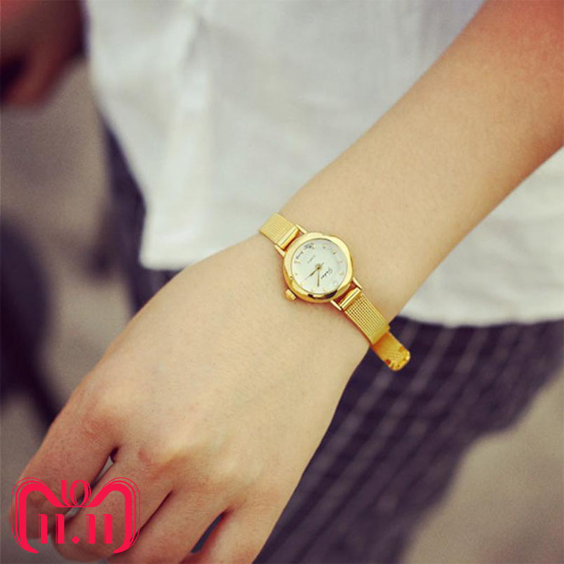 2019 New fashion casual watches Women Quartz Analog Wristwatch Lady Female Golden Mesh Strap Dress Bracelet Watches DropShipping(China)
