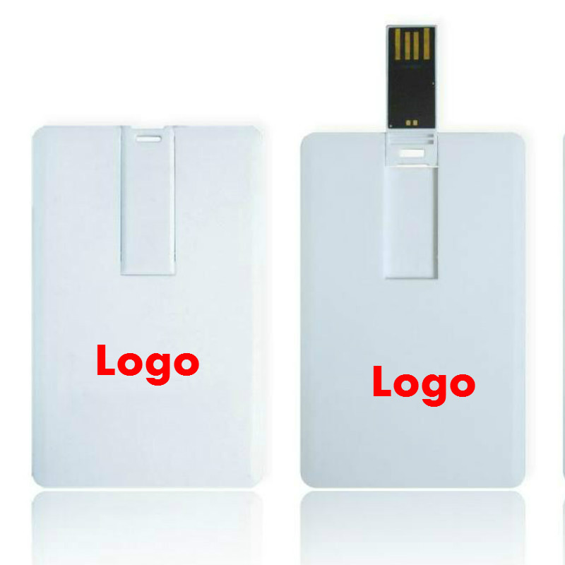 (Over 20 pcs Free Logo) DIY Logo Credit Card usb 2.0 memory u disk plasticsuper thin 4GB 8GB 16Gb 32GB blank usb flash drives