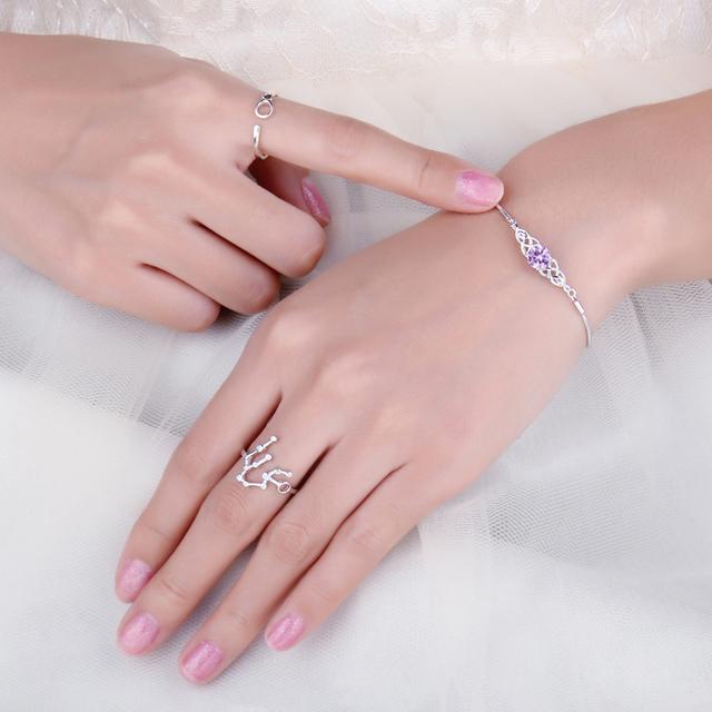 Pink Celtic Knot Sapphire Bracelet